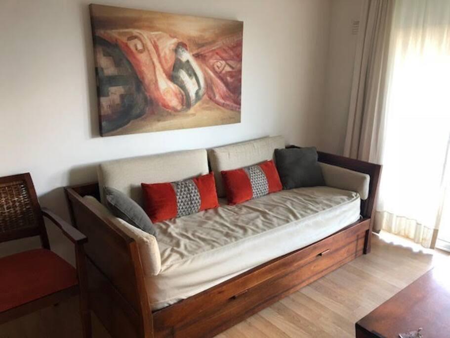Sillon cama con cama adicional carrito
