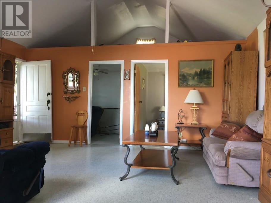 living room and bedroom entrances