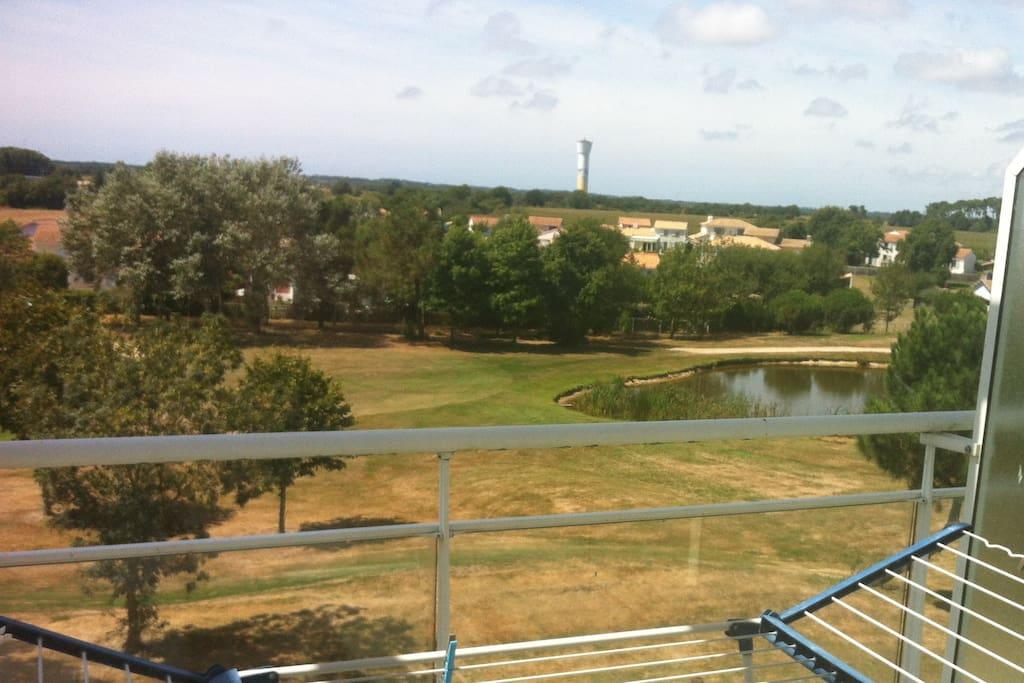 La vue sur le golf (balcon de la chambre)