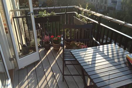 Sunny balcony and close to metro st
