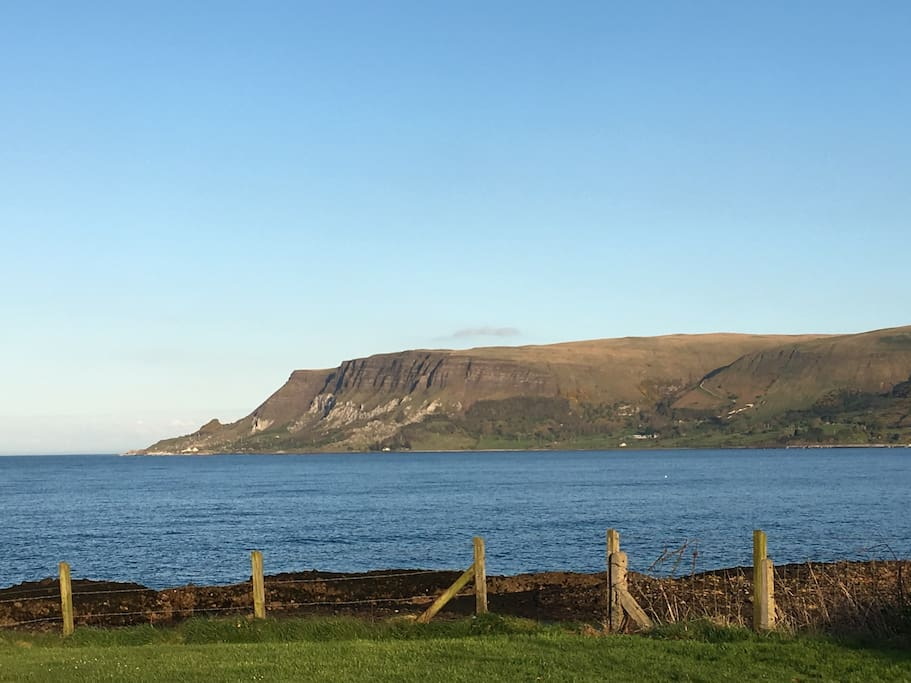 View from house of Red Bay and Garron Point