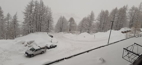 Cervinia, sci, alloggio sulle piste da sci