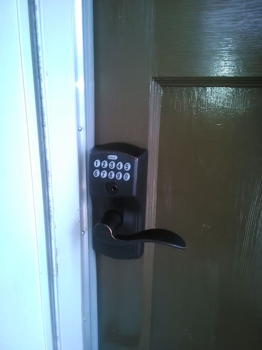 Key pad. Enter your last four digits of your cell number.