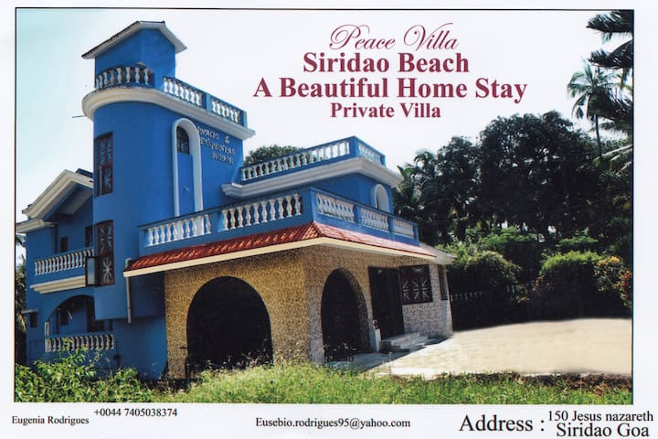 Luxurious 5BHK Peace Villa Siridao Goa Beach