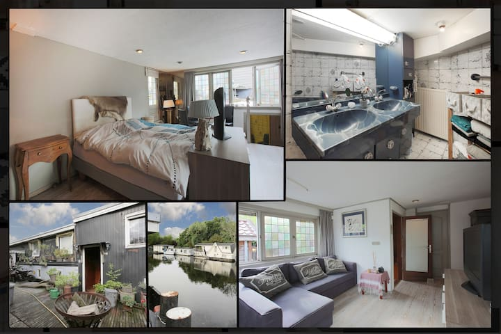 Stylish Studio in Houseboat | CANAL VIEW | City Centre