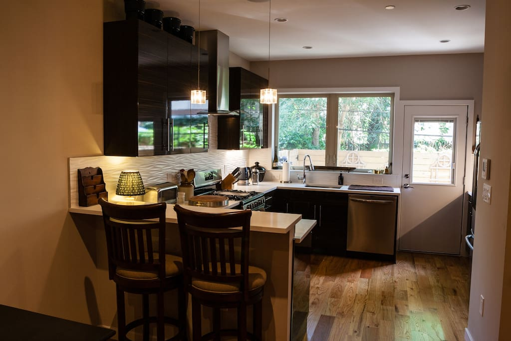 Modern gourmet kitchen with all you will need