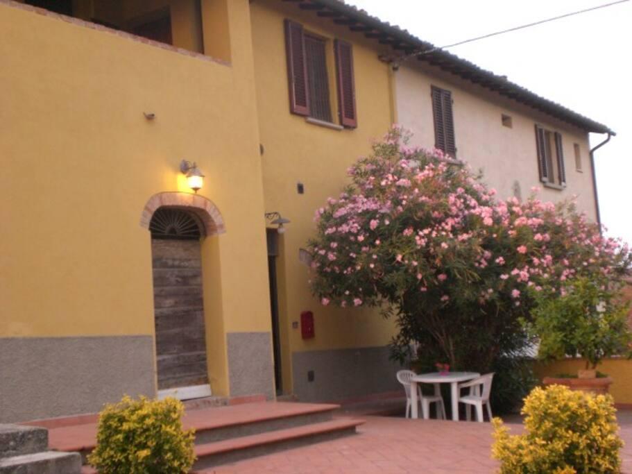 Terrazza-giardino di fronte all'appartamento