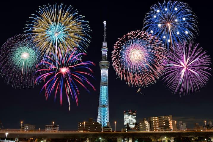 EasyAccess Asakusa/Skytree/Shibuya/Ueno・WIFI/4PAX - Sumida-ku - Appartement
