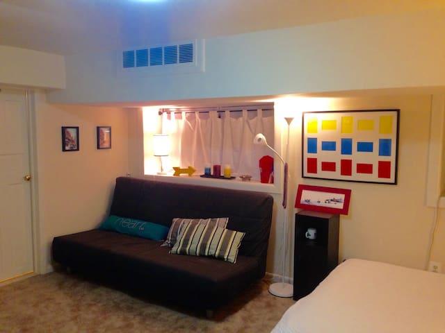 Cozy semi basement studio