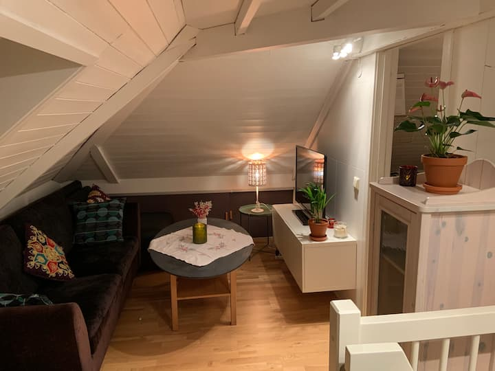 Charming loft with private entrance right by NTNU