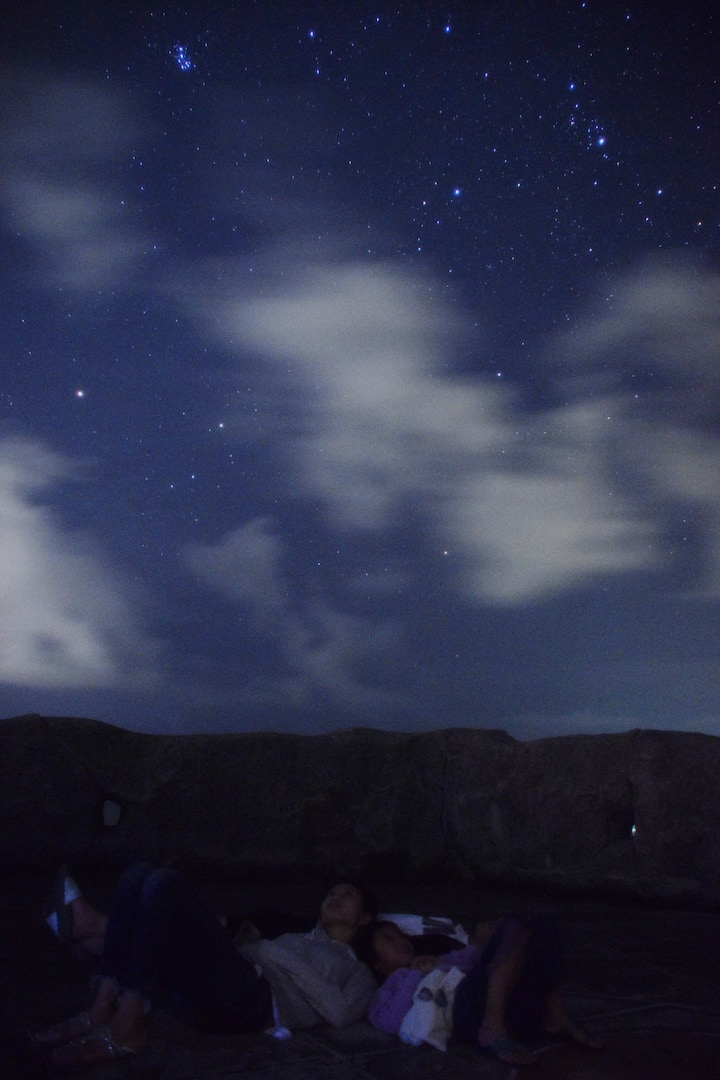 寝転がれば流れ星も探しやすいですよ