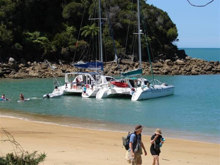 Cabin onboard a luxury catamaran