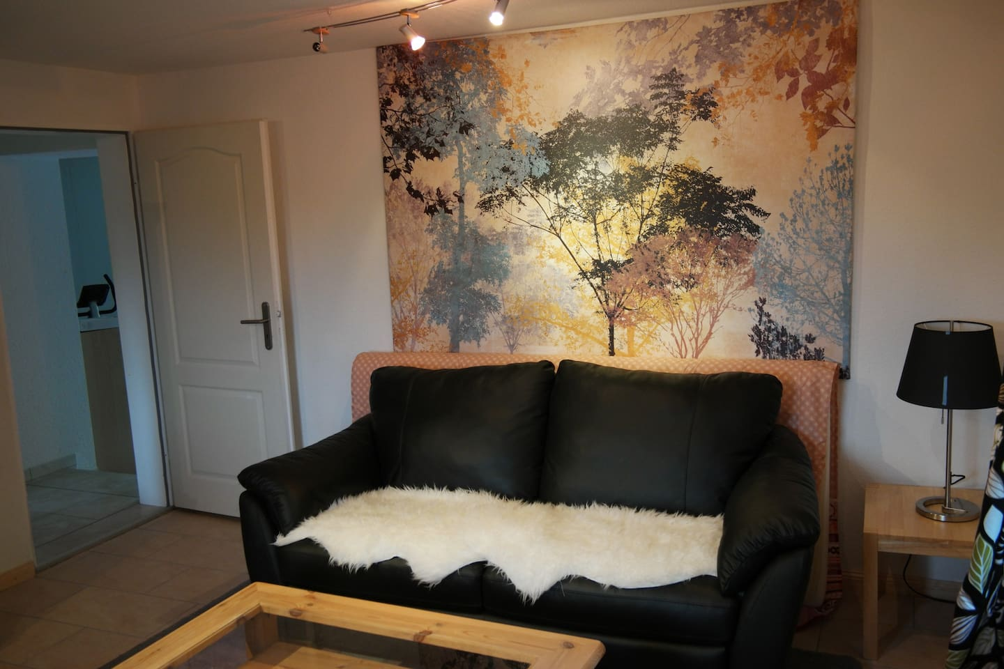 living room - convertible sofa for two (1,4 x 2 m)