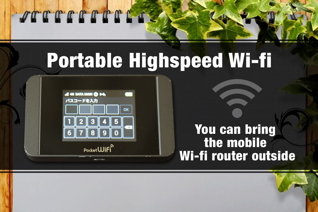 Portable Highspeed Wi-fi.You can use this unlimited mobile Wi-fi router
