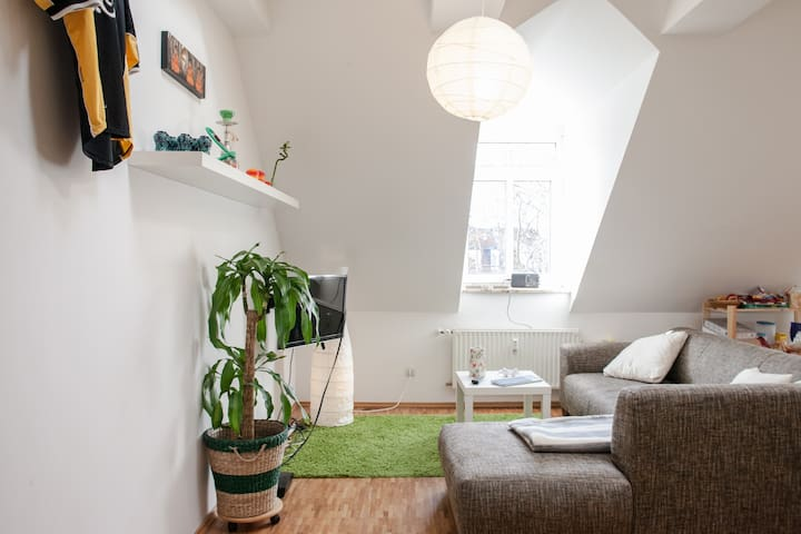 Central apartment in Leipzig (room)