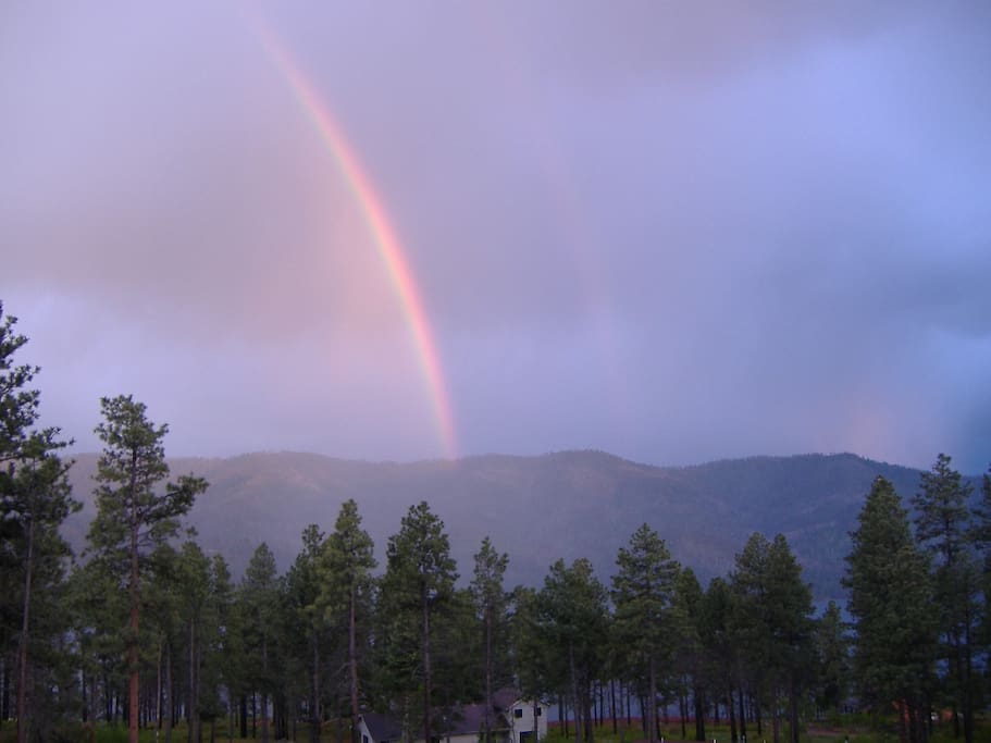 Rainbow off the deck.