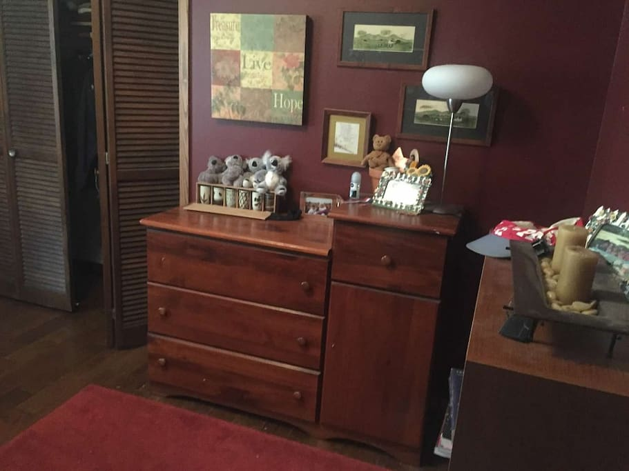 A dresser to put your items