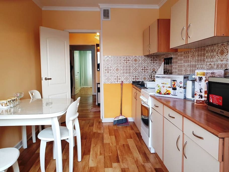 Kitchen view from window side