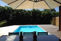 Espace deck piscine