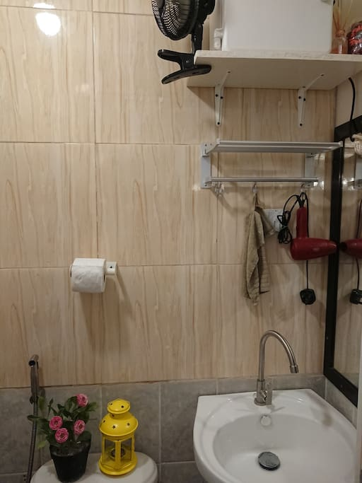 toilet & bath with first aid kit