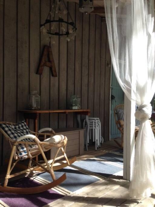 Katettu terassi n. 8 m2