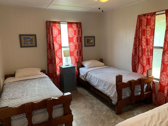 Bedroom #2  2 twin beds and 1 double bed