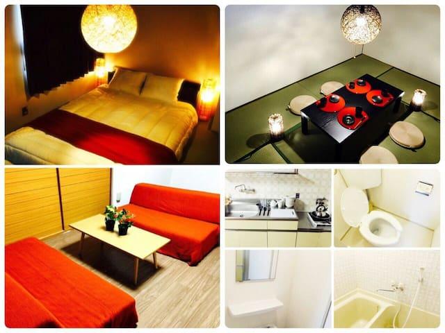 1) Namba!Nipponbashi 4minJapanese room! 11ppl*wifi - Osaka - Leilighet