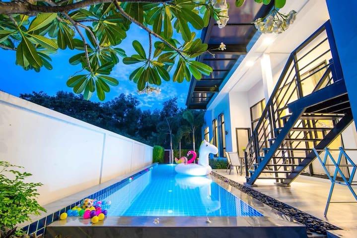 Huahin poll villa 1 (Lucky house)