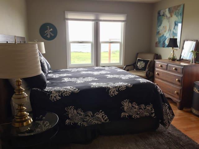 Large King Bedroom with Door to Deck.