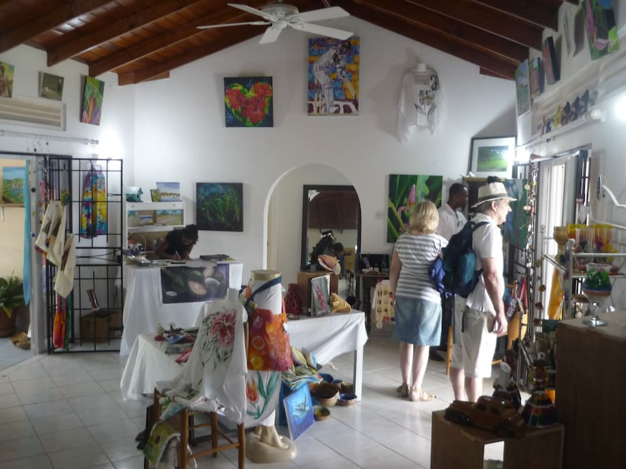 the adjoining art shop