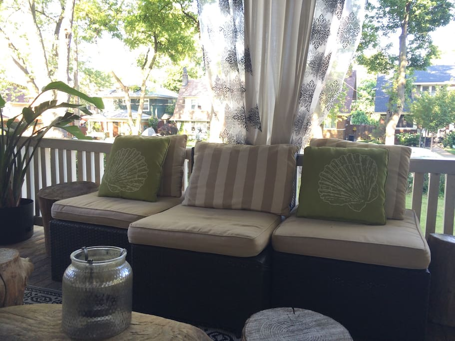 Front porch cabana seating... So relaxing