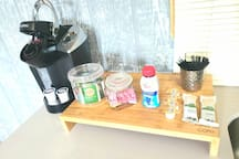 KEURIG MACHINE AND COFFEE FOR YOU