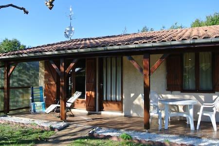 Petite maison T3 avec un beau jardin, au calme et proche du lac de Sanguinet - Sanguinet - Casa