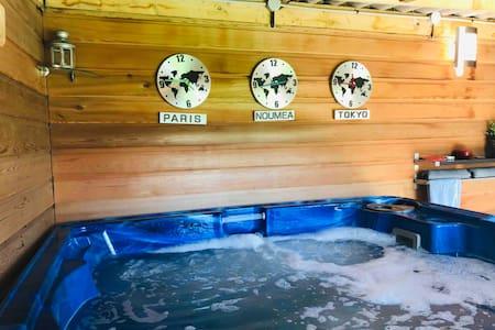 Chambre privée avec sdb et spa