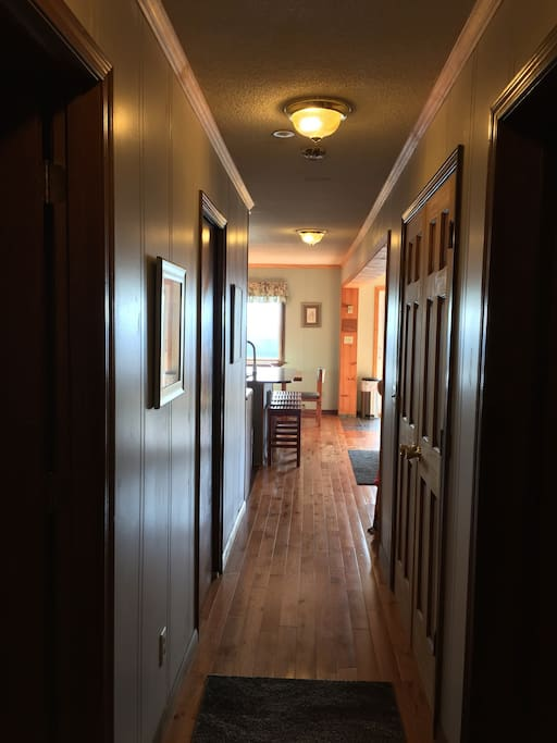 Please enter!   Hardwood flooring. Shoes off, please...