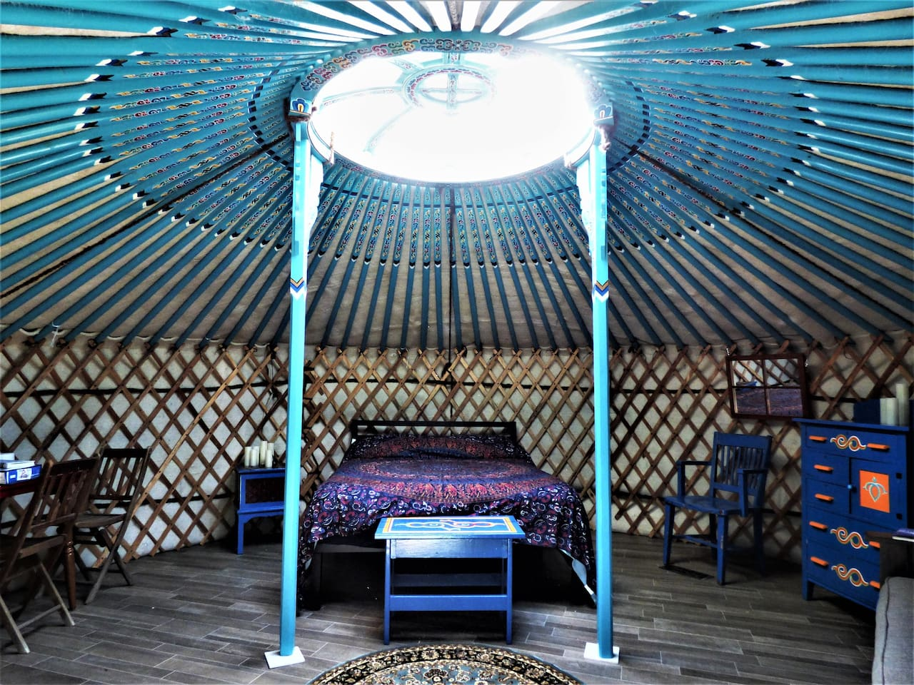 Rock Haven, An authentic Mongolian Yurt experience along the Scenic Rock River