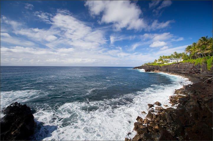 Oceancliff Villa Overlooking Beach! - Pāhoa - Huis