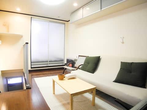 5 minuti da Sapporo sta! Ottima posizione e camera accogliente.