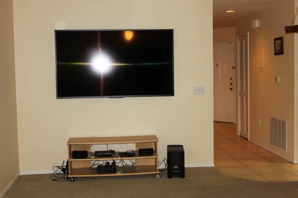 70 inch TV with Netflix, Amazon Prime, Crackle, etc.