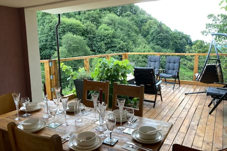 Stylish suite with large terrace & stunning view
