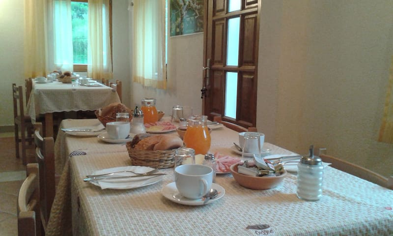 Continental breakfast full with all you need for a day of walking and exploring.