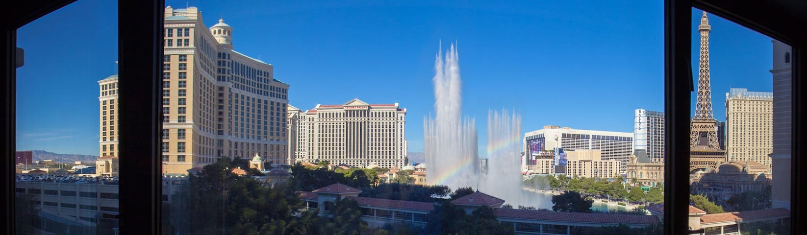 1BD ON STRIP/Panoramic View of Bellagio Fountains