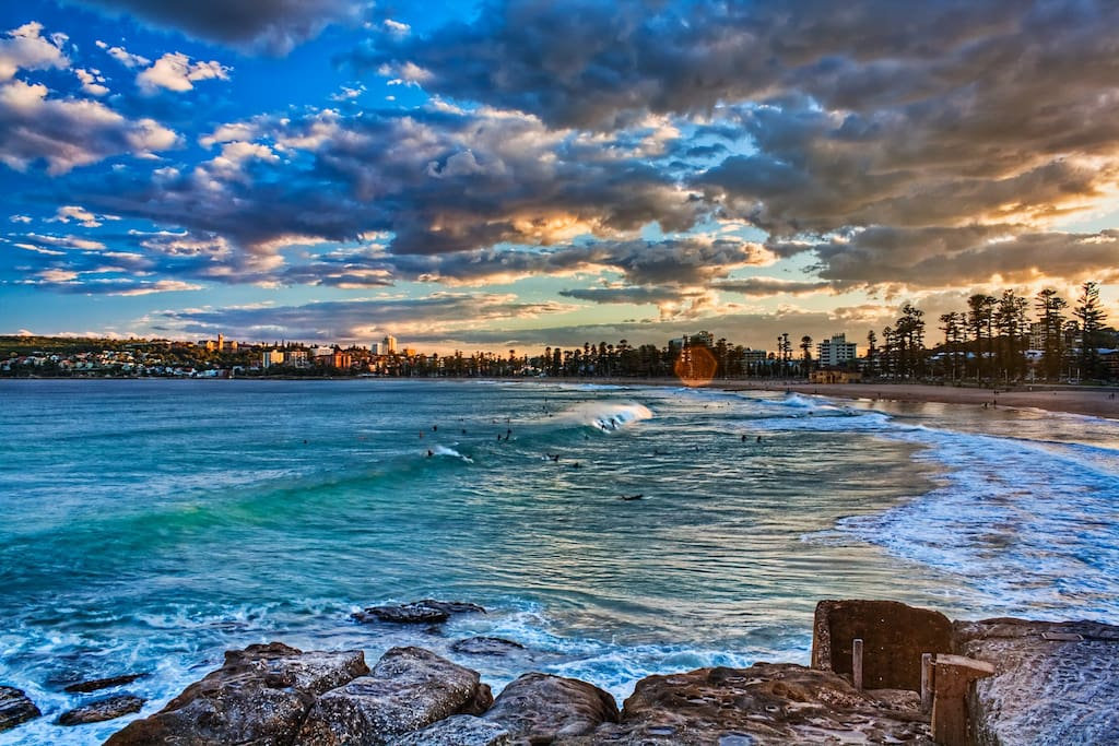Manly beach (north end)