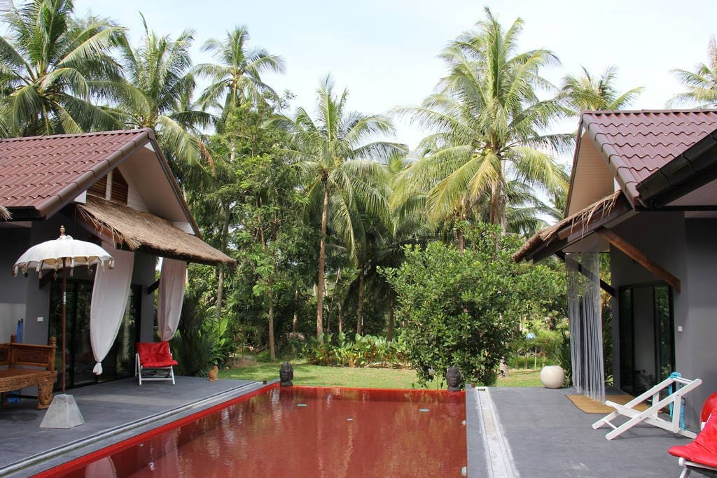Our red swimming pool