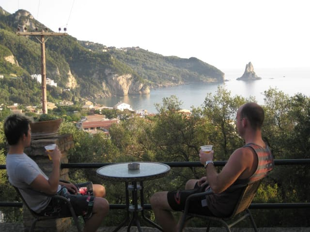 Sea view veranda from the studio