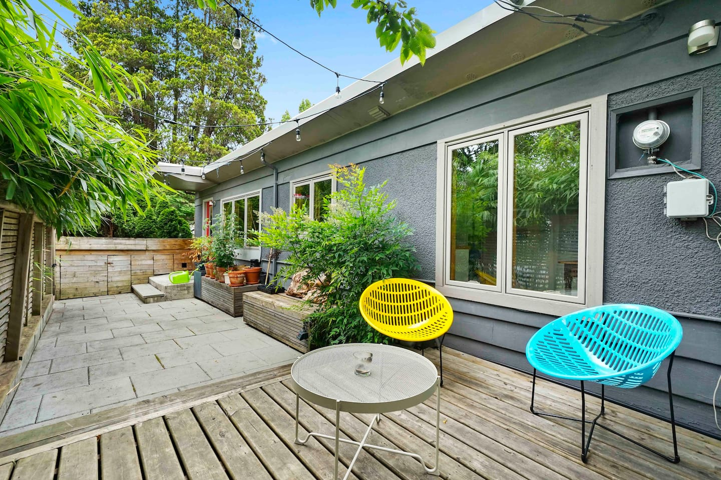 Enjoy the best of Vancouver summer in the spacious and secluded backyard.