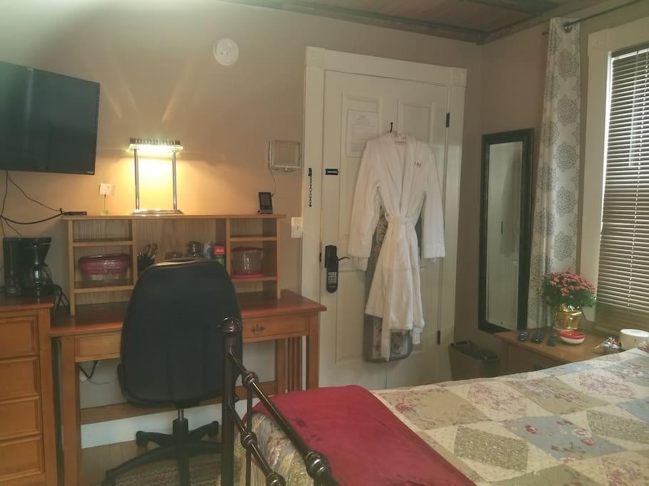 Room stay includes plush LL Bean bathrobe