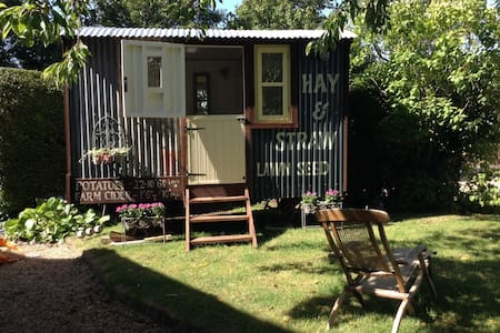 Shepherds hut in South Downs