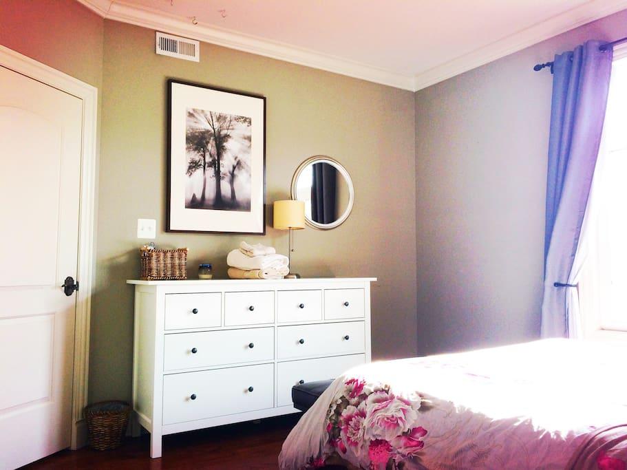 dresser in room