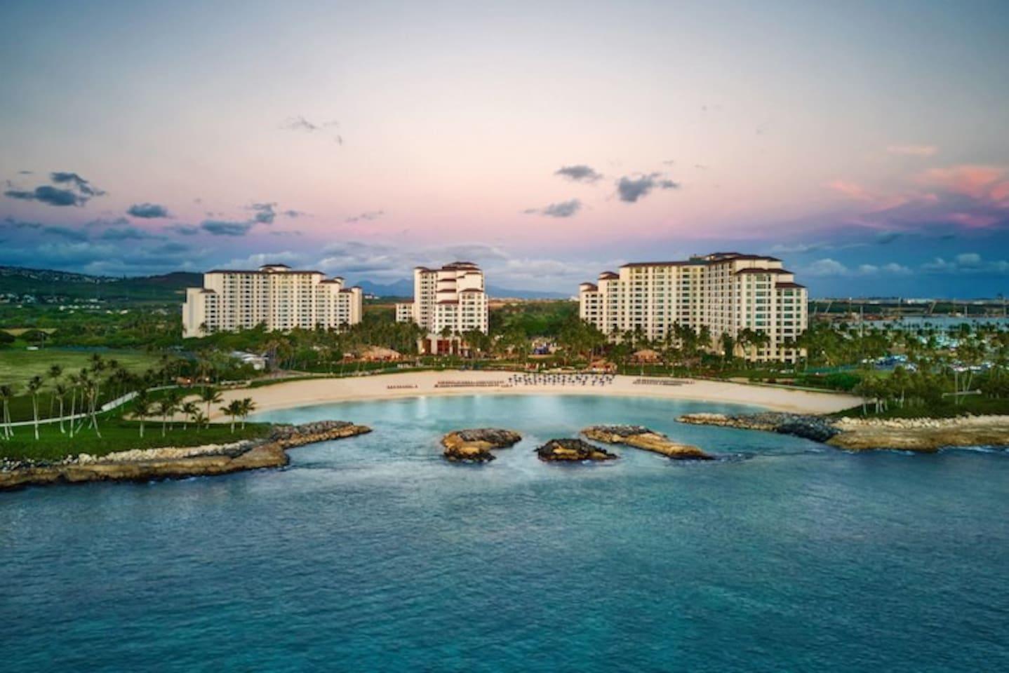 Marriott Ko Olina Beach Club view from ocean